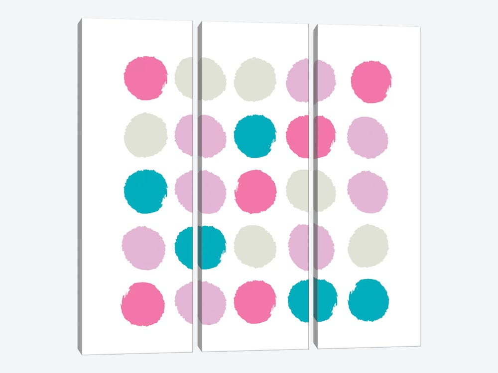 Rhea Dots by Charlotte Winter 3-piece Canvas Art Print