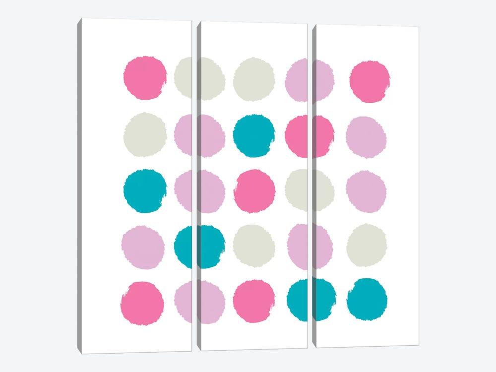 Rhea Dots by Charlotte Winter 3-piece Canvas Art Print