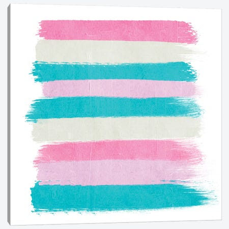 Rhea Stripes Canvas Print #CHW90} by Charlotte Winter Canvas Wall Art