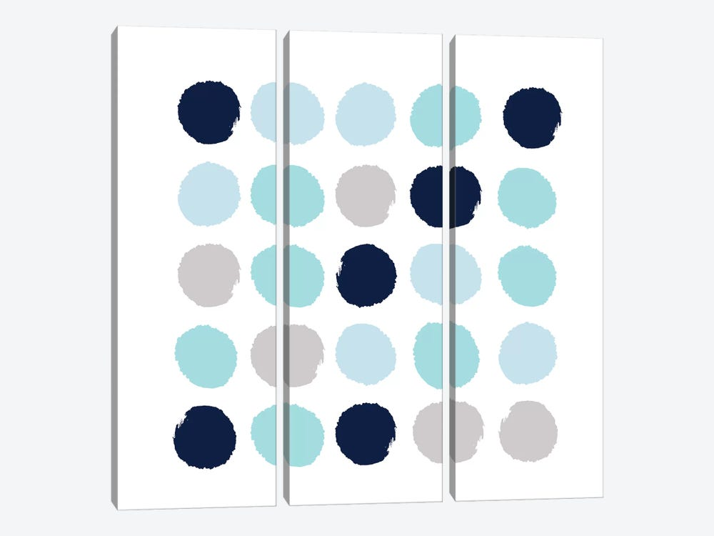Riley Dots by Charlotte Winter 3-piece Art Print
