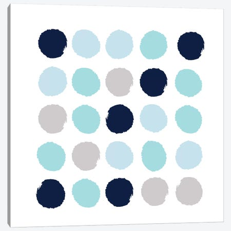 Riley Dots Canvas Print #CHW92} by Charlotte Winter Canvas Artwork