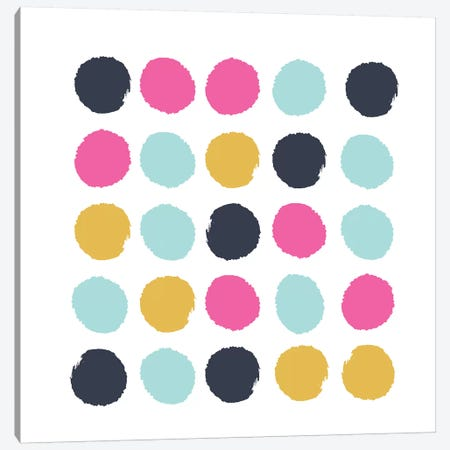 Sacha Dots Canvas Print #CHW97} by Charlotte Winter Canvas Print
