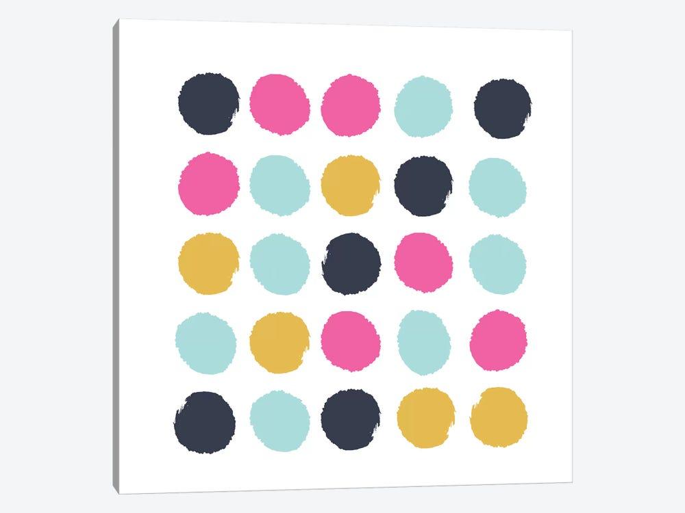 Sacha Dots by Charlotte Winter 1-piece Canvas Artwork