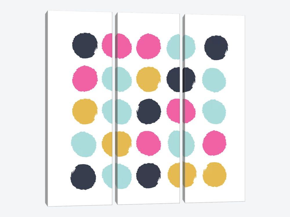 Sacha Dots by Charlotte Winter 3-piece Canvas Artwork