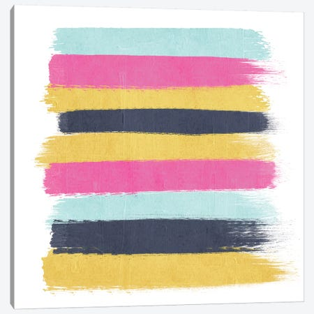 Sacha Stripes Canvas Print #CHW98} by Charlotte Winter Canvas Wall Art