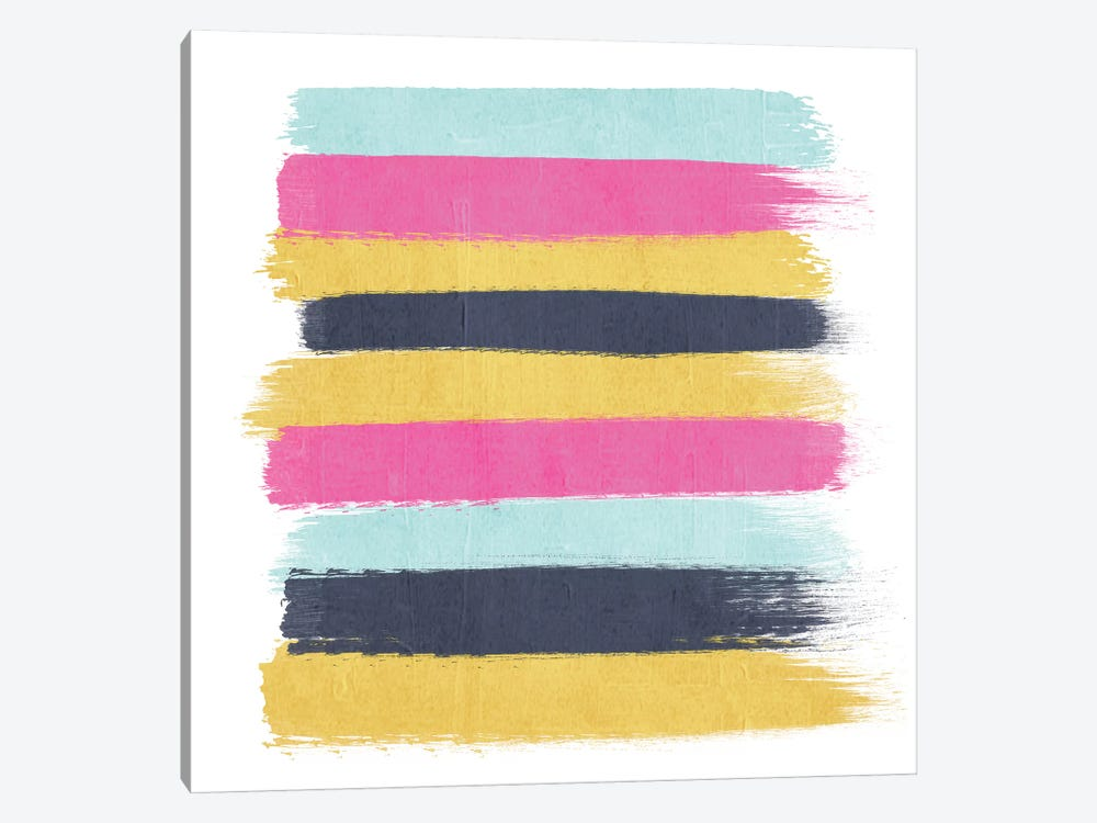 Sacha Stripes by Charlotte Winter 1-piece Canvas Art Print
