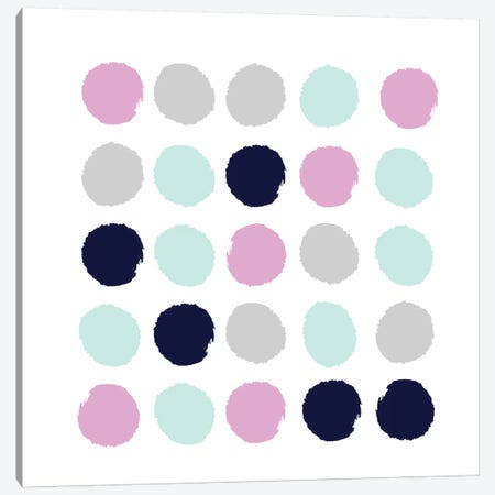 Berti Dots Canvas Print #CHW9} by Charlotte Winter Canvas Print