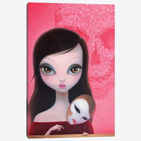 Ffinally Lost The Mask Canvas Print #CHZ16} by Chen Hongzhu Canvas Artwork