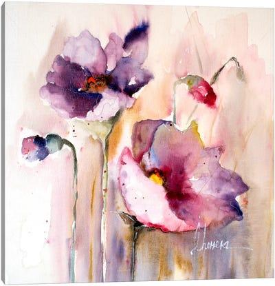 Plum Poppies I Canvas Art Print