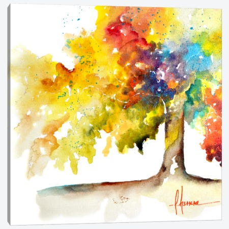 Rainbow Trees I Canvas Print #CIA13} by Leticia Herrera Canvas Print