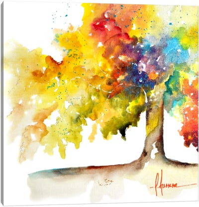 Rainbow Trees I Canvas Art Print