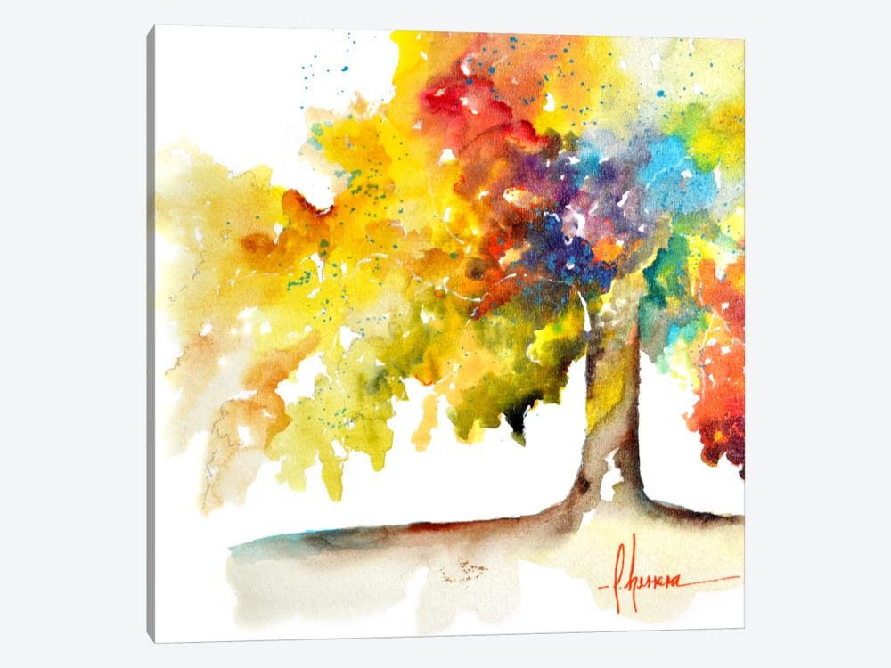 Rainbow Trees I by Leticia Herrera 1-piece Canvas Art Print