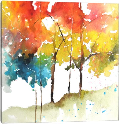 Rainbow Trees II Canvas Art Print