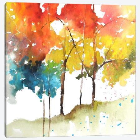 Rainbow Trees II Canvas Print #CIA14} by Leticia Herrera Canvas Wall Art