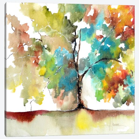 Rainbow Trees III Canvas Print #CIA15} by Leticia Herrera Canvas Wall Art