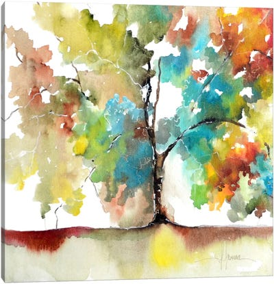 Rainbow Trees III Canvas Art Print