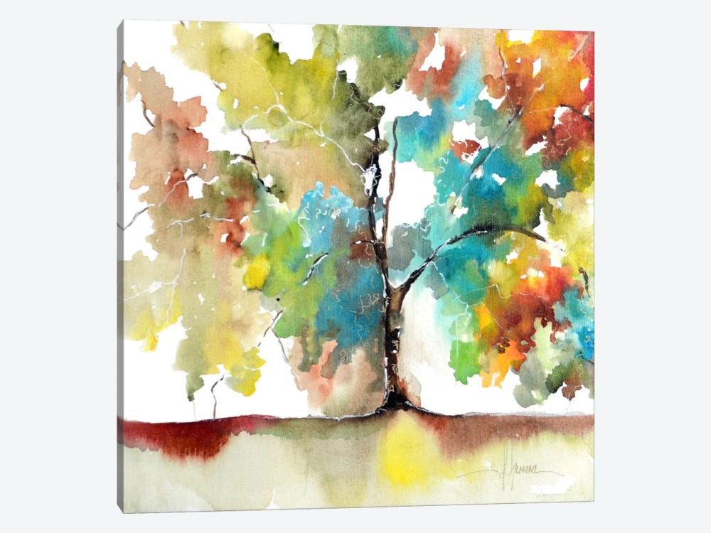 Rainbow Trees III by Leticia Herrera 1-piece Canvas Print