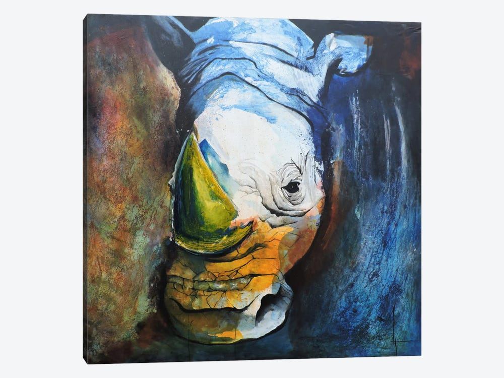 Rhino by Leticia Herrera 1-piece Canvas Artwork