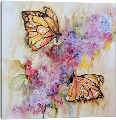 Dos Monarchas Canvas Art Print