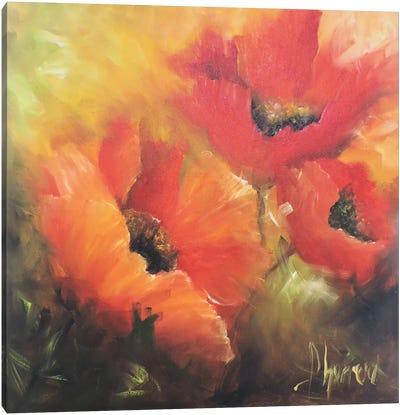 En Rojos Canvas Art Print