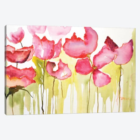 Horizontal Flores I Canvas Print #CIA20} by Leticia Herrera Canvas Artwork
