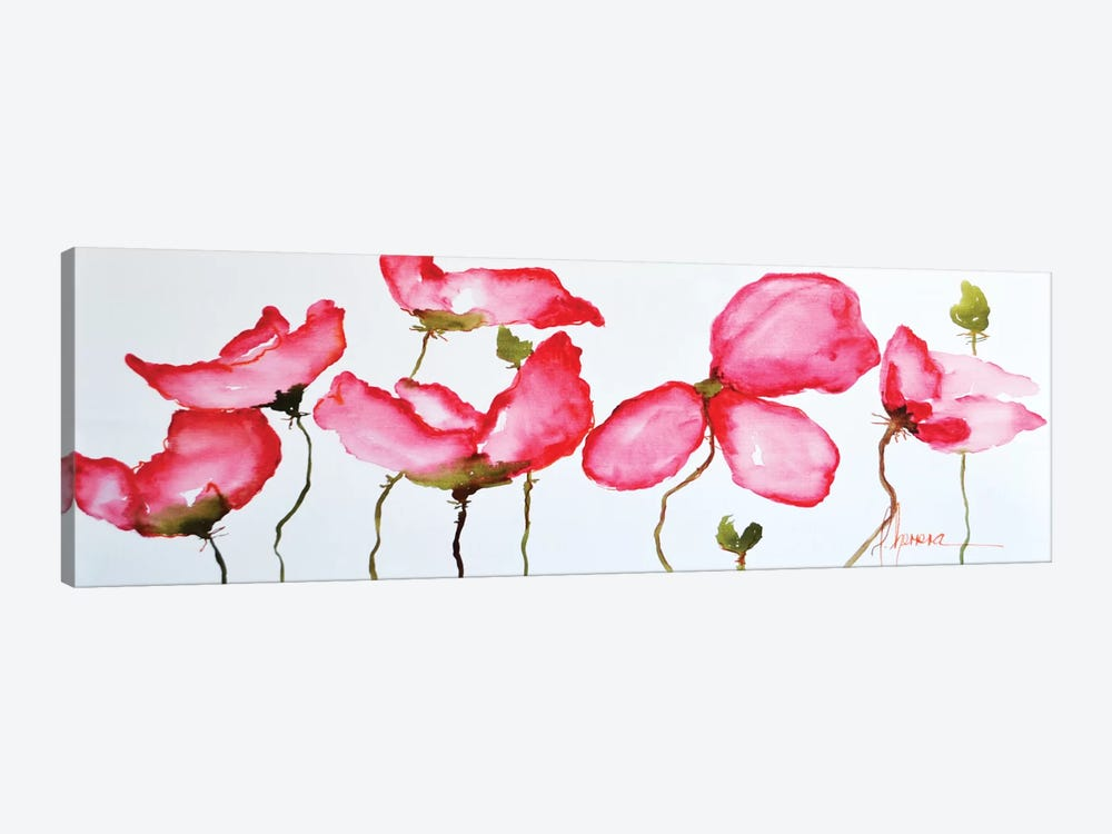 Horizontal Flores II by Leticia Herrera 1-piece Canvas Wall Art