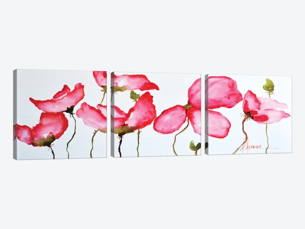 Horizontal Flores II 3-piece Canvas Wall Art
