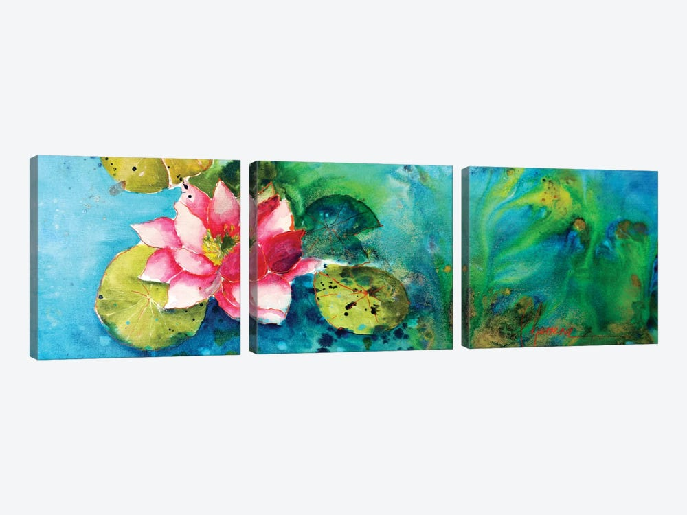 Horizontal Flores VI by Leticia Herrera 3-piece Canvas Artwork