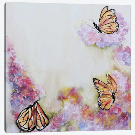 Tres Monarchas Canvas Print #CIA37} by Leticia Herrera Canvas Artwork