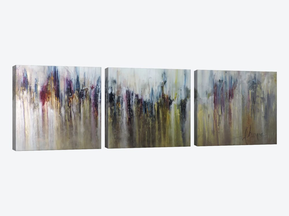 Cascada Metalica by Leticia Herrera 3-piece Canvas Print