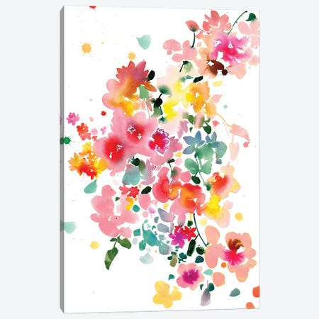 Floral Bustle 3-Piece Canvas #CIG15} by CreativeIngrid Canvas Art