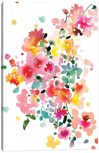 Floral Bustle Canvas Art Print