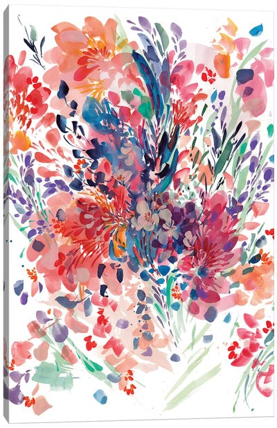 Floral Drama by CreativeIngrid Canvas Art Print