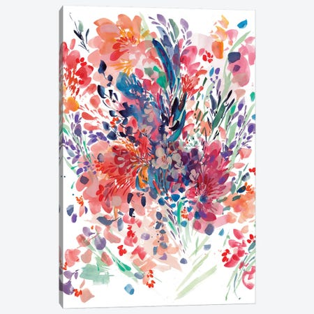 Floral Drama Canvas Print #CIG16} by CreativeIngrid Canvas Art