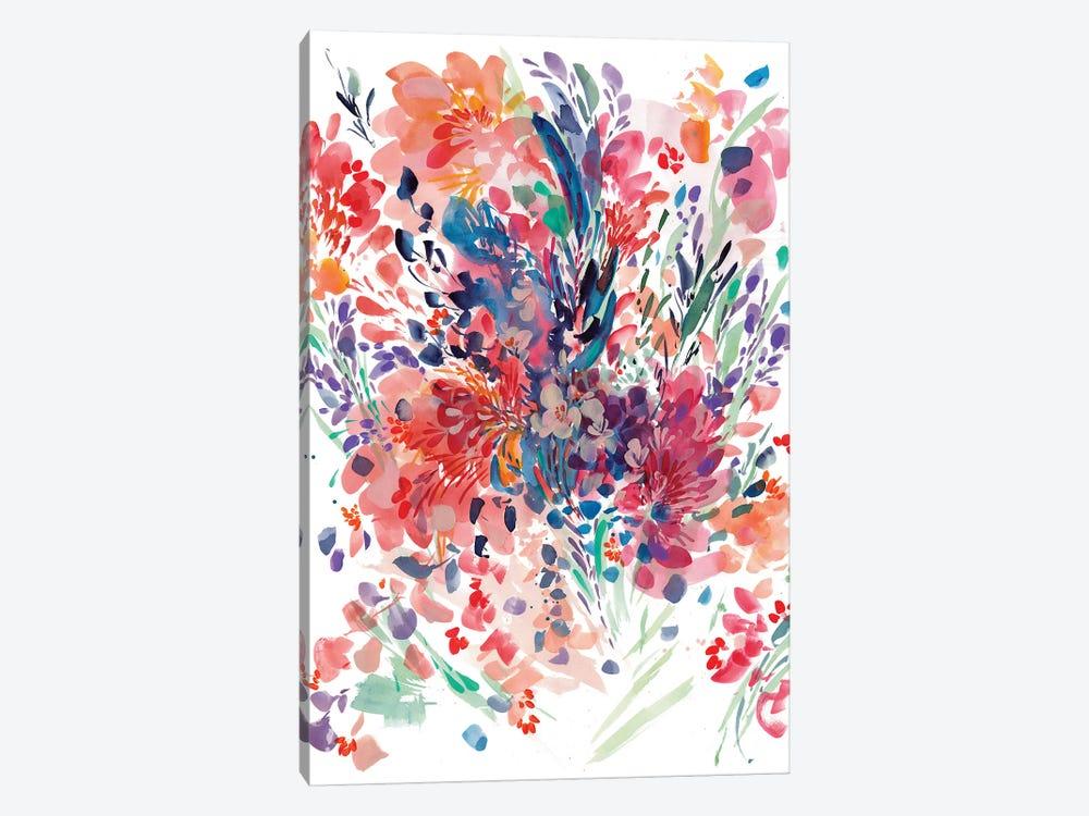 Floral Drama by CreativeIngrid 1-piece Canvas Wall Art