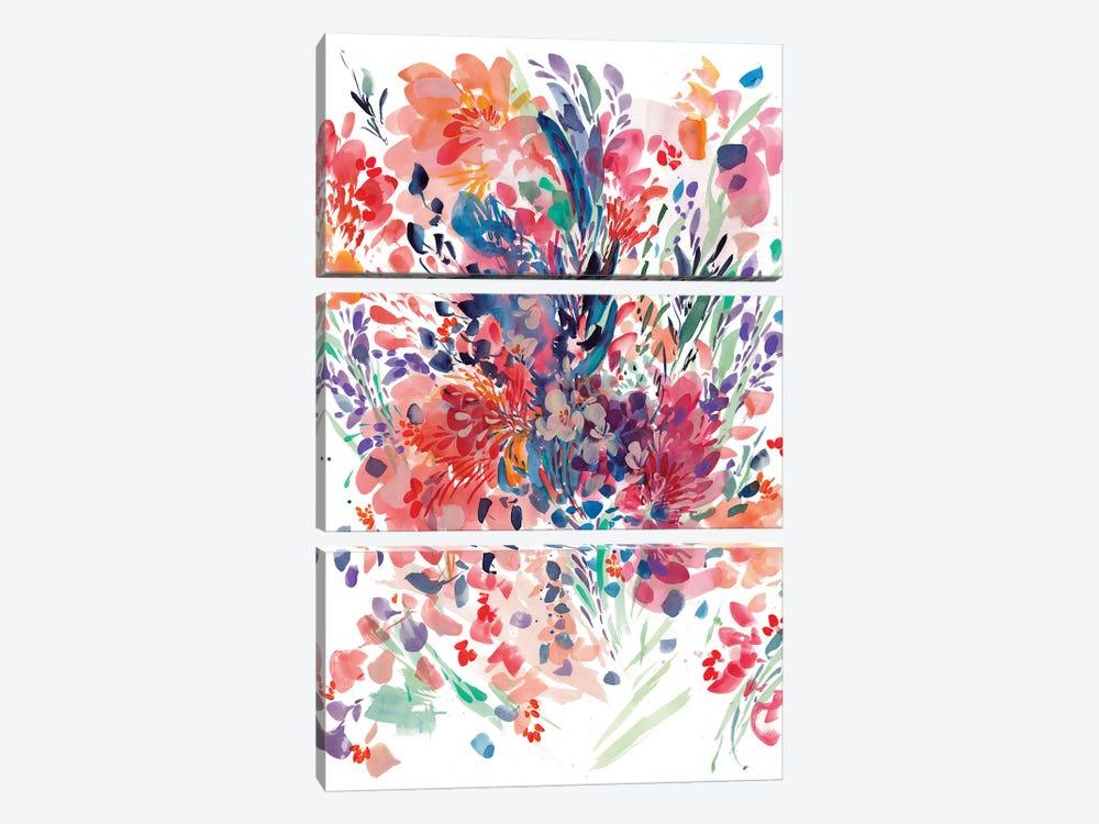 Floral Drama by CreativeIngrid 3-piece Canvas Artwork