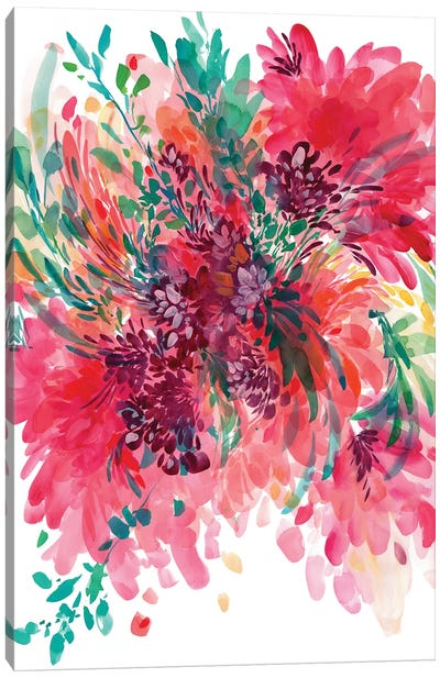 Floral Fearless by CreativeIngrid Canvas Art Print
