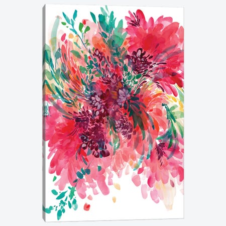 Floral Fearless Canvas Print #CIG17} by CreativeIngrid Canvas Wall Art