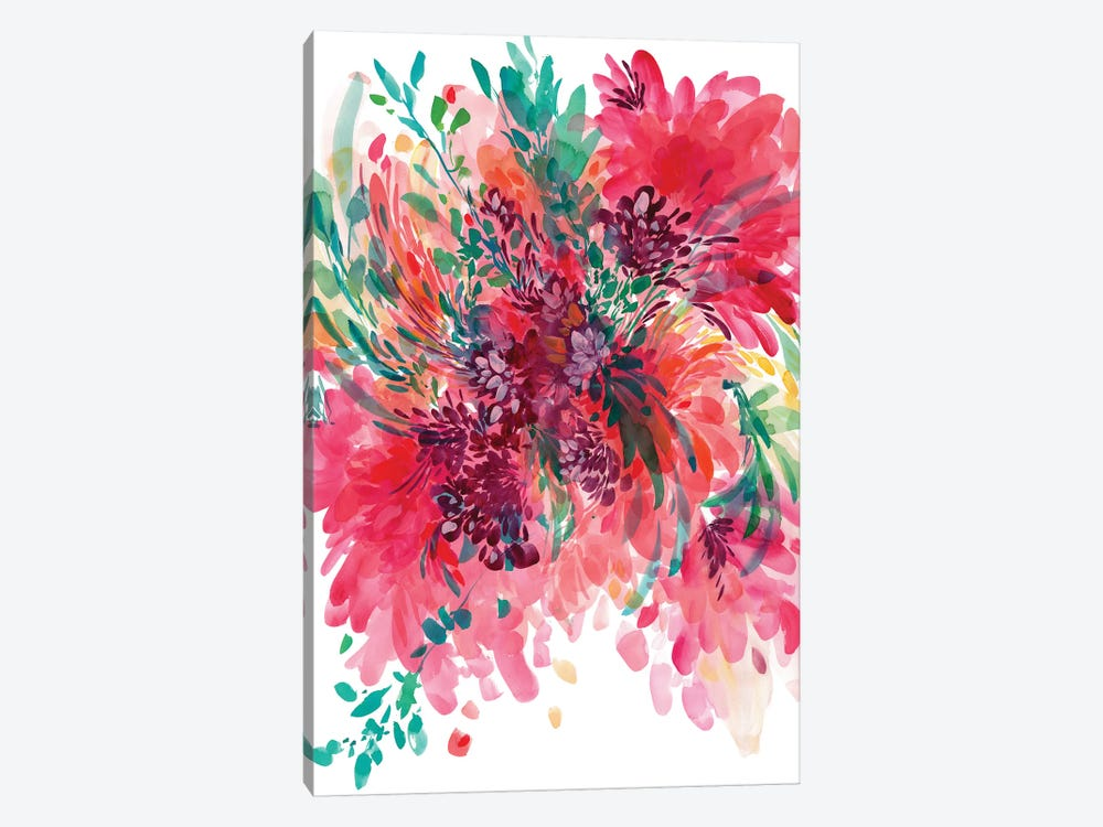 Floral Fearless by CreativeIngrid 1-piece Canvas Print