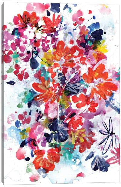 Floral Fireworks Canvas Art Print