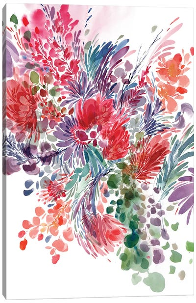Floral Focus by CreativeIngrid Canvas Art Print