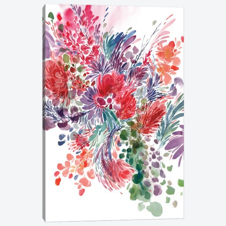 Floral Focus Canvas Print #CIG19} by CreativeIngrid Art Print