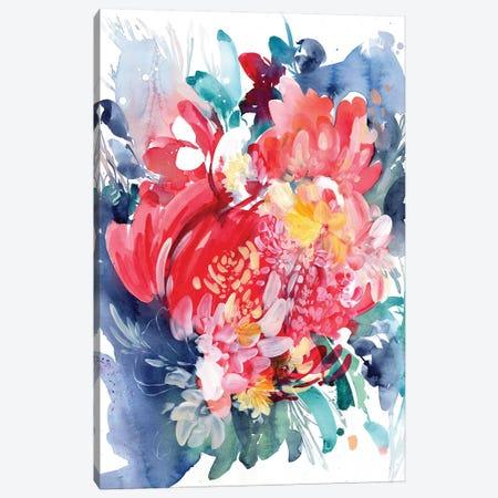 Floral Hug Canvas Print #CIG20} by CreativeIngrid Canvas Wall Art