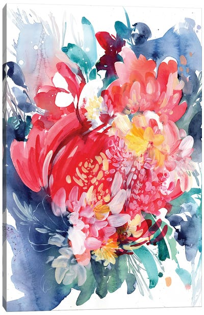 Floral Hug Canvas Art Print