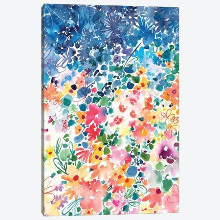 Floral Stardust Canvas Print #CIG21} by CreativeIngrid Canvas Wall Art