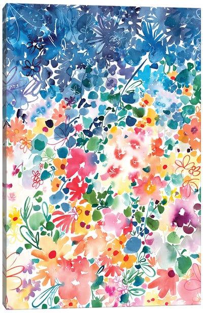 Floral Stardust Canvas Art Print