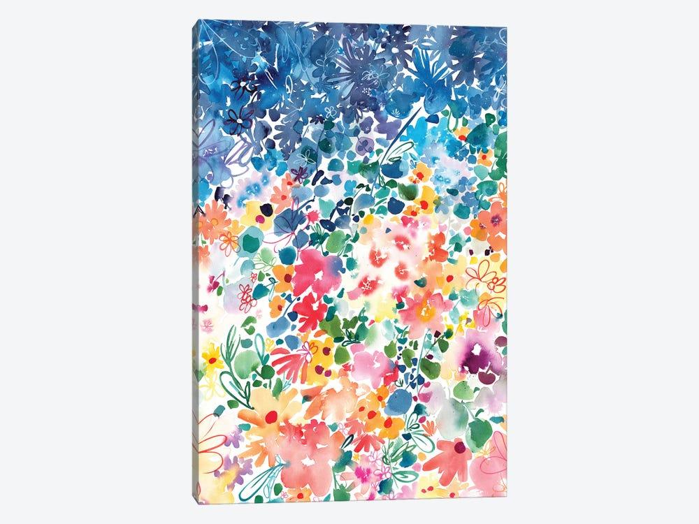 Floral Stardust by CreativeIngrid 1-piece Canvas Artwork