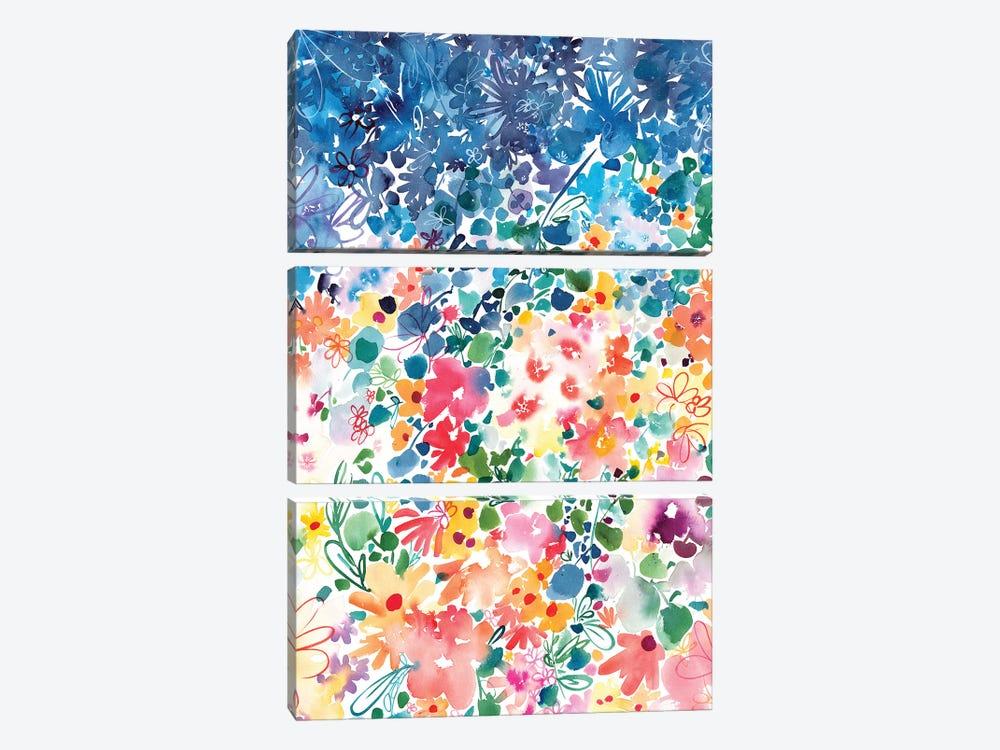 Floral Stardust by CreativeIngrid 3-piece Canvas Art