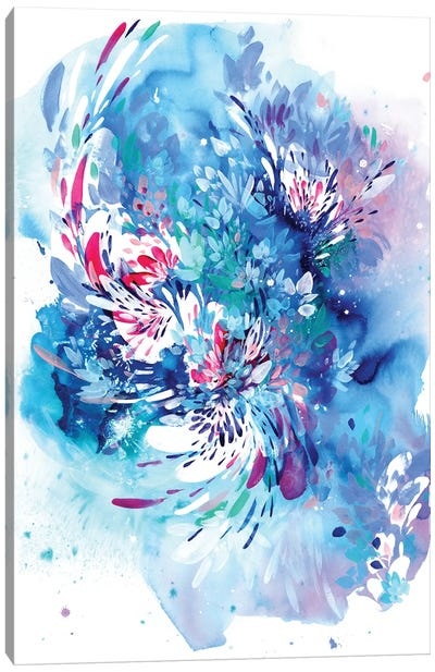 Floral Wave by CreativeIngrid Canvas Art Print