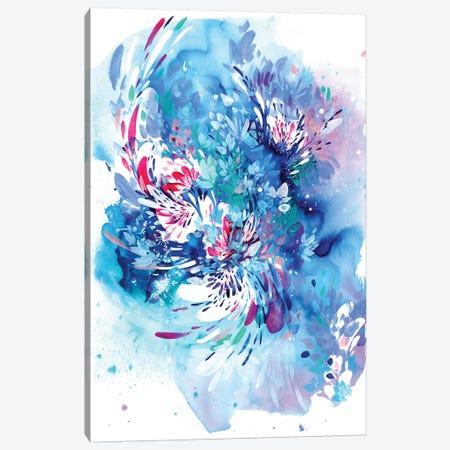 Floral Wave Canvas Print #CIG22} by CreativeIngrid Canvas Wall Art